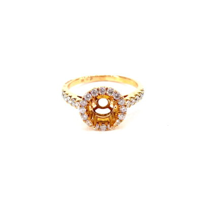 Michael Moses Vault, Newport Beach California Jewelry Store, 18k Rose Gold Diamond ring Semi- Mounting