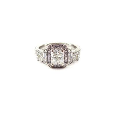 Jewelry Store Newport Beach California, Michael Moses Jewelers, White Gold Diamond Engagement ring