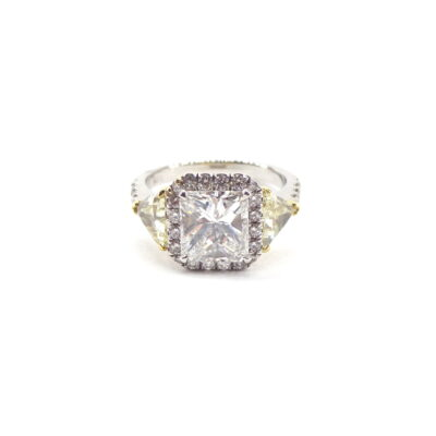Michael Moses Jewelers, Jewelry Store Newport Beach California, Diamond Ring, Platinum Mounting, 18k Yellow Gold Mounting