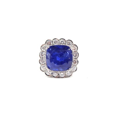 Michael Moses Jewelers,Newport Beach California,Platinum Diamond Sapphire Ring, Fine Jewelry, Estate Jewelry