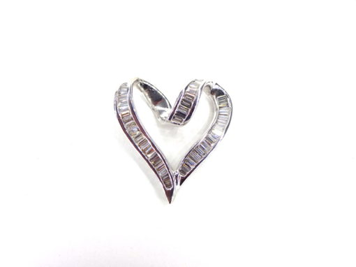 Michael Moses Jewelers, Newport Beach Fine Jewelry Store, 14k White Gold Baguette Diamond Pendant
