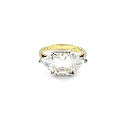 Michael Moses Jewelers, Jewelry Store Newport Beach California, 18k yellow gold/Platinum Diamond Ring
