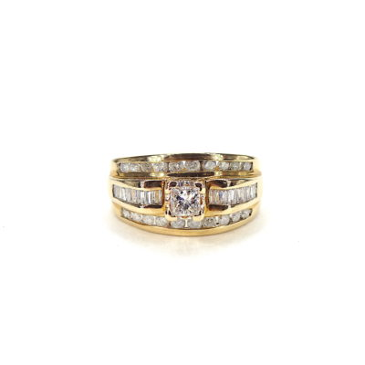 Michael Mopses Vault, Newport Beach Jewelry Store, 14k Yellow Gold Diamond RIng
