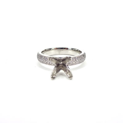 Michael Moses Vault, Newport Beach Jewelry Store, Platinum diamond Semi-Mounting Ring
