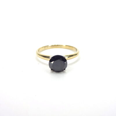 Michael Moses Jewelers, Newport Beach jewelry Store,14k Yellow Gold Black Diamond Ring