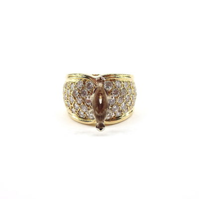 Michael Moses Vault, Newport Beach Jewelry Store, 18k Yellow Gold Diamond Semi-Mounting
