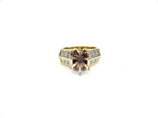 Michael Moses Jewelers, Newport Beach Jewelry Store, 18k Yellow Gold Diamond Semi-Mounting