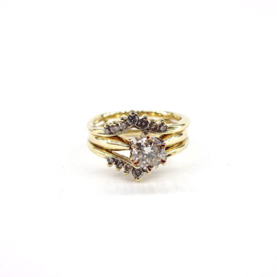 Michael Moses Vault, Newport Beach Jewelry Store, 14k Yellow Gold Diamond Wedding set