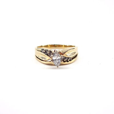 Michael Moses Jewelers, Newport Beach Jewelry Store, 14k Yellow Gold Diamond Ring