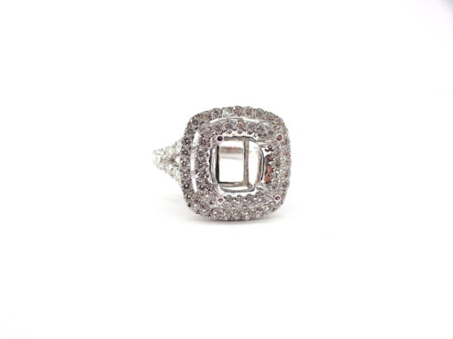 Michael Moses Vault, Newport Beach Jewelry Store, 18k White Gold Diamond Semi-Mounting