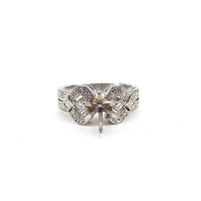 Michael Moses Vault, Newport Beach Jewelry Store, Platinum diamond Semi-Mounting