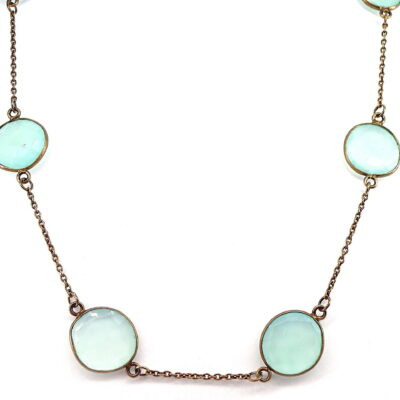 Michael Moses Vault, Newport Beach Jewelry Store, Gold Plated Chalcedony Necklace