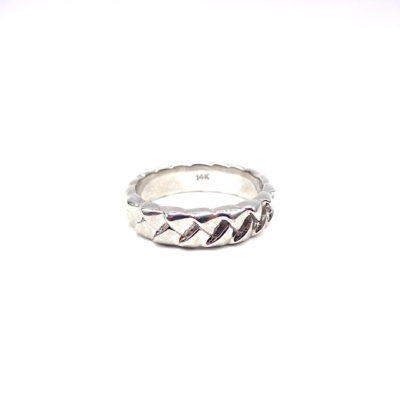 Michael Moses Vault, Newport Beach Fine Jewelry Store, 14k White Gold Mens Braided Band