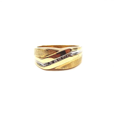 Michael Moses Vault, Newport Beach Jewelry Store, 14k Yellow Gold Diamond Mens Ring