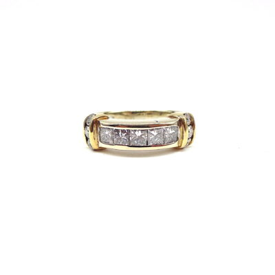 Michael Moses Vault, Newport Beach Jewelry Store, 14k White gold/yellow Gold Diamond ring