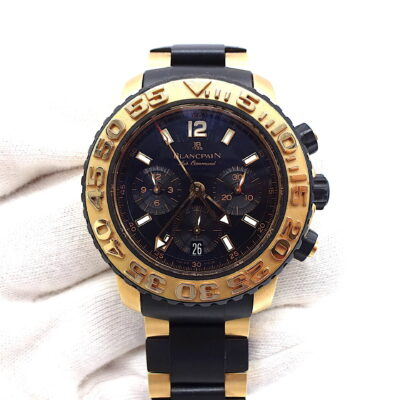 Michael Moses Vault, Newport Beach Jewelry Store, Blancpain Air Command Concept 2000 18k Rose Gold/Rubber Case and Bracelet