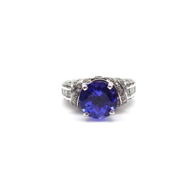 Tanzanite Diamond Ring, Michael Moses Vault, Newport Beach Fine Jewelry, Tanzanite/Diamond Ring