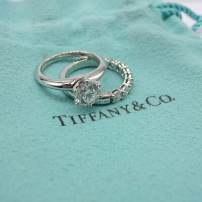 Michael Moses Vault, Newport Beach Jewelry Store, Tiffany & Co Diamond Engagement set