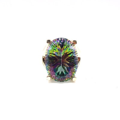 Michael Moses Vault, Newport Beach California Fine Jewelry Store, 14k Yellow Gold Mystic Topaz Ring