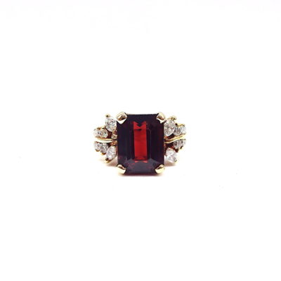 Michael Moses Vault, Newport Beach California Fine Jewelry Store, Garnet/Diamond Ring