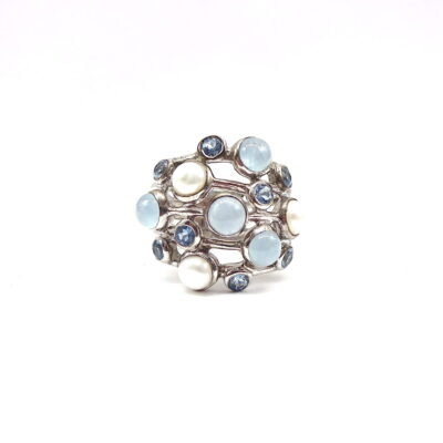 Michael Moses Vault, Newport Beach California Jewelry Store, 925 Sterling Silver Moon Stone Ring