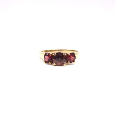 Michael Moses Vault, Newport Beach Fine Jewelry Store, 10k Yellow Gold Garnet Ring