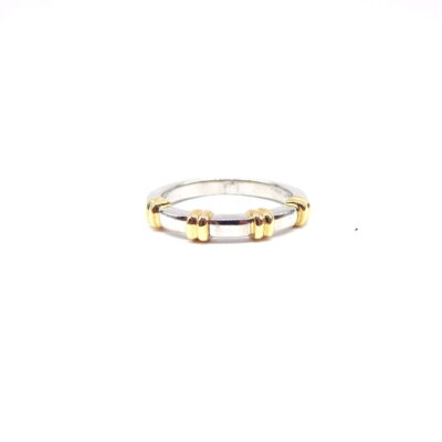 Michael Moses Vault, Newport Beach California Fine Jewelry Store, two-tone Platinum/18k Yellow Gold Band