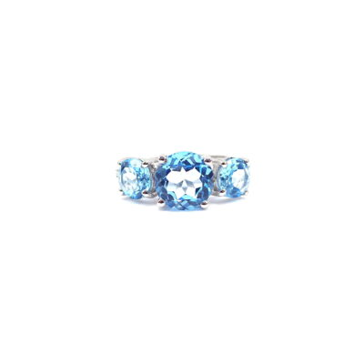 Michael Moses Vault, newport Beach California Fine Jewelry Store, 14k White Gold Topaz Ring