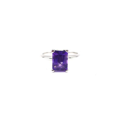 Michael Moses Vault , Newport Beach Fine Jewelry Store, 14k White Gold Amethyst Ring